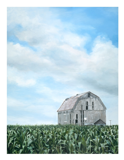 """My painting """"Still Standing"""" ironically is no longer standing."""