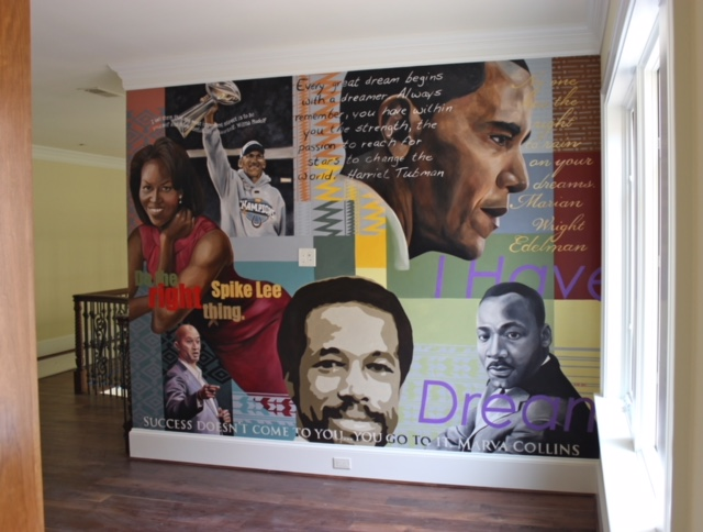 Inspirational Mural for Private Residence