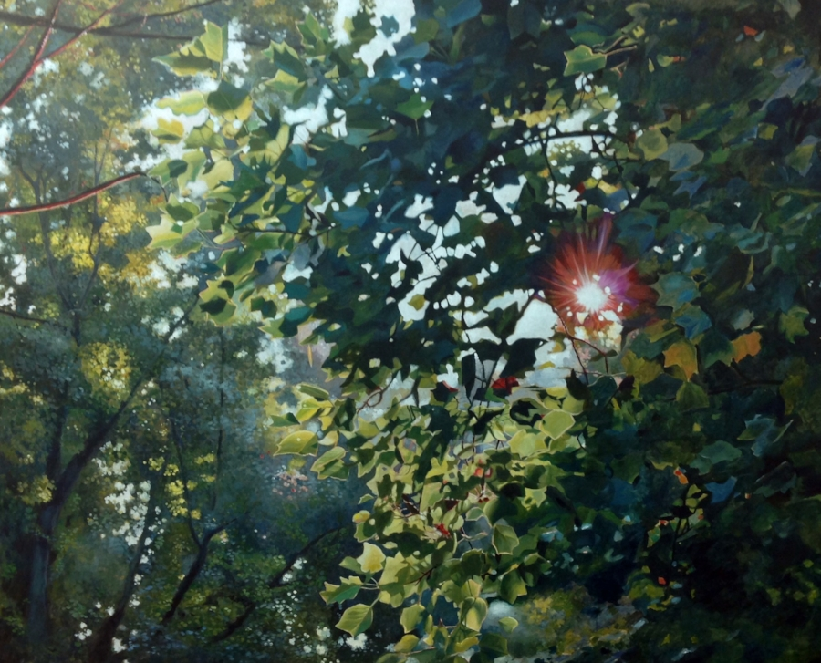 "Commissioned work ""First Light"" Acrylic on Canvas, 40x50"""
