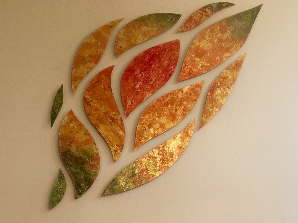 Commissioned glass art installation.