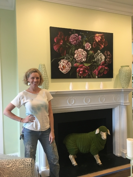 A work I created for  Simply Put Interiors ' Living Room in this year's BSO Decorator Show House