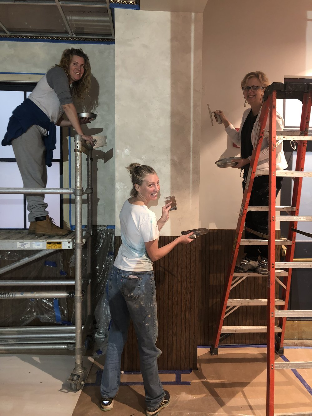 We come together to help on projects. This Cathy Rinn's project- a new restaurant in Washington DC.