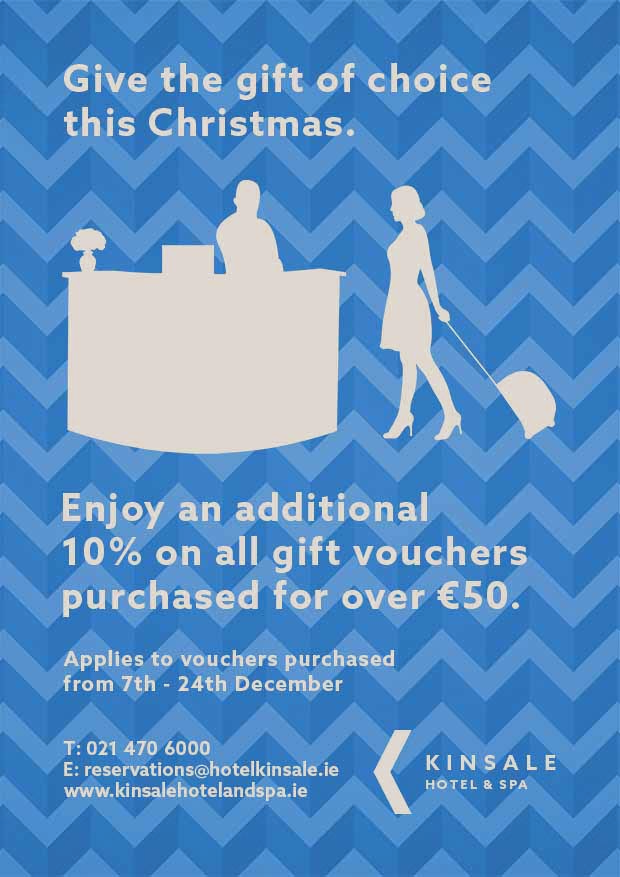 kinsale hotel voucher offer poster