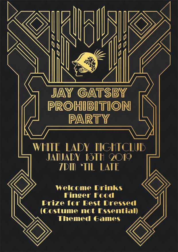 kinsale hotel gatsby party poster