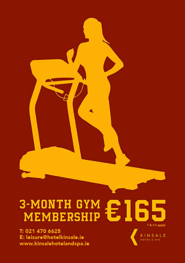 kinsale hotel gym offer poster