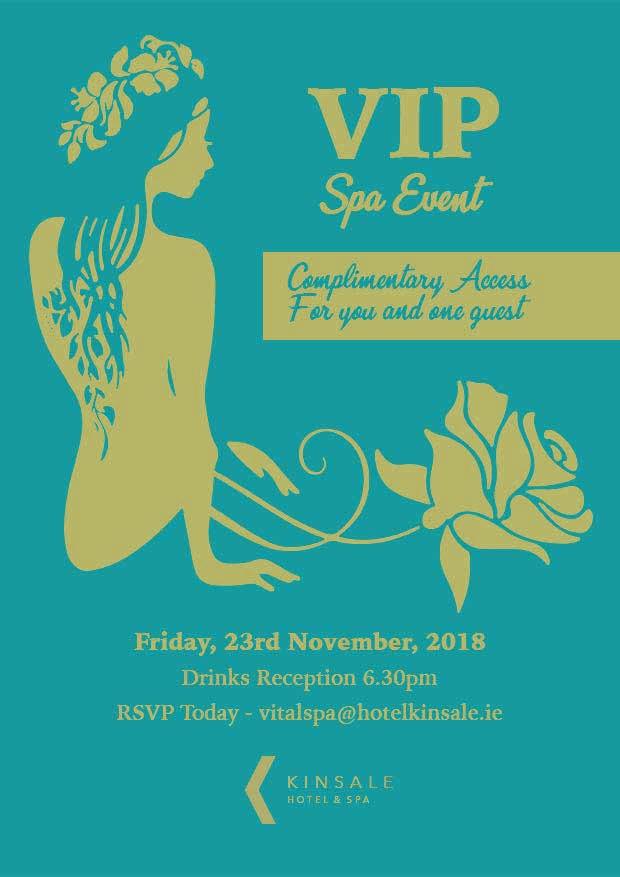 kinsale hotel spa event poster