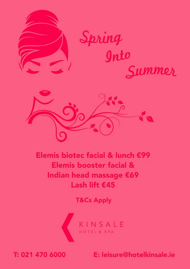kinsale hotel spring into summer poster