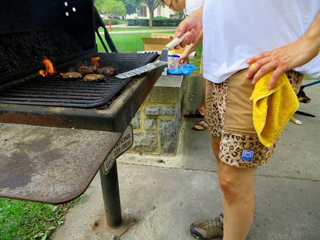 People who wear shorts year round also BBQ year round.