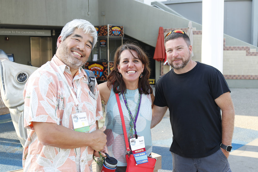 George Matsumoto, Tami Lunsford, and George DeBenedictis at NMEA 2018 in Long Beach, CA