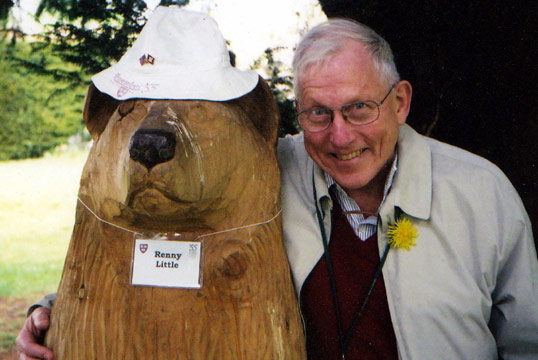 Renny Little and a friend, 2003. (Photograph: Courtesy of R. Little)
