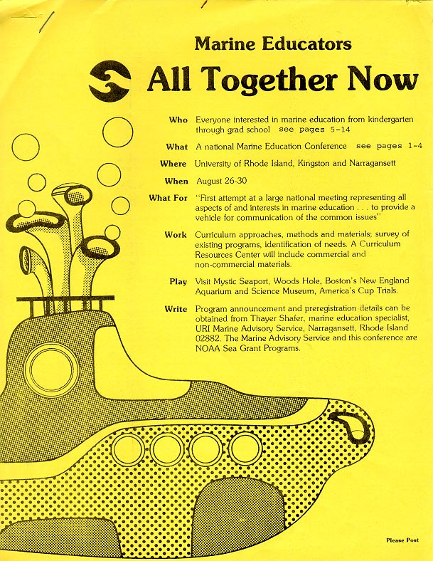 Conference announcement and conference program cover. Photograph by Susan Leach Snyder