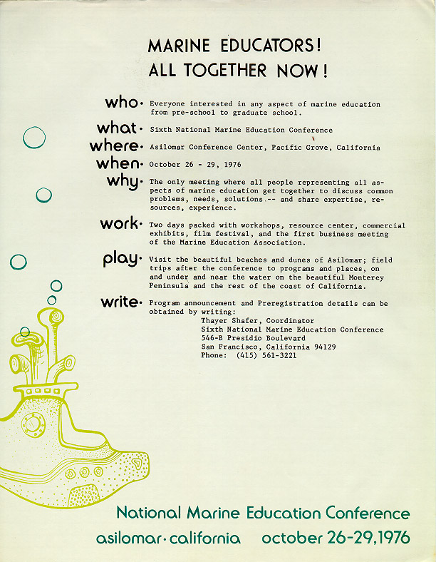 Flier announcing the 1976 conference