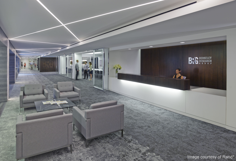 Berkeley Research Group - Commissioning: Located in DC's Golden Triangle, the 60,000 square-foot office space achieved a LEED Gold certification under the Interiors rating system.