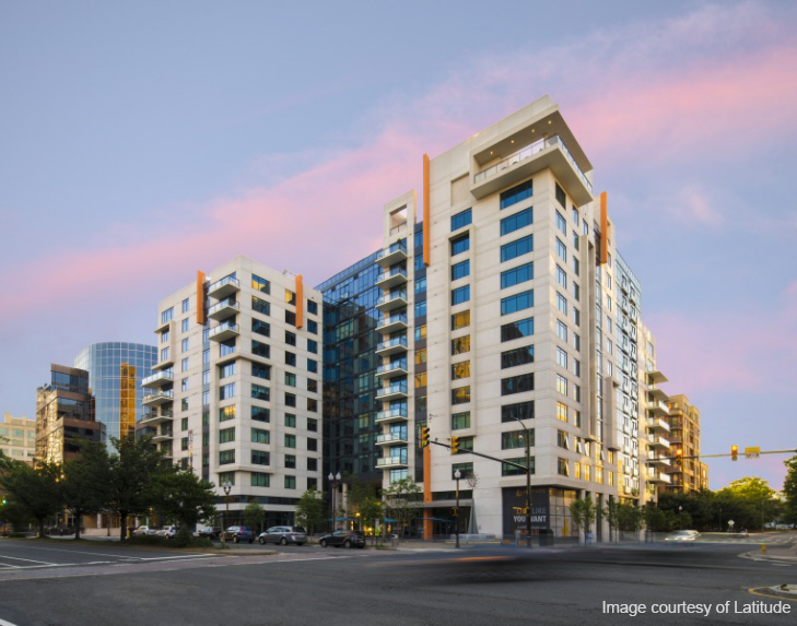 Latitude Apartments - Commissioning: Located directly across from the Virginia Square Metro in Arlington, Virginia, 12-story, 279 apartment building achieved Gold under the New Construction rating system.