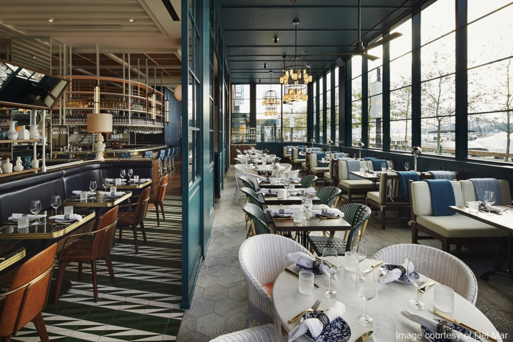 Del Mar Restaurant - Commissioning: Located in the District's Wharf, the 14,000 square-foot project utilized commissioning to obtain its occupancy permit through the DC Green Code addendum of the IgCC.