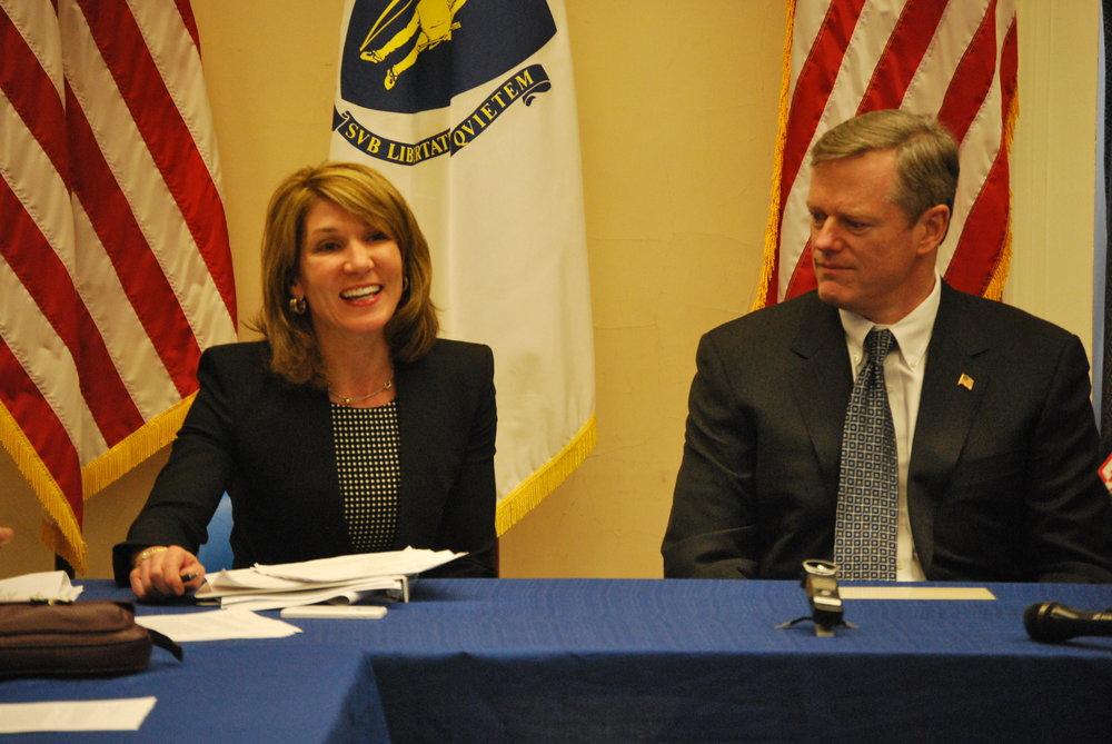 Governor Charlie Baker &Lt. Governor Karyn Polito