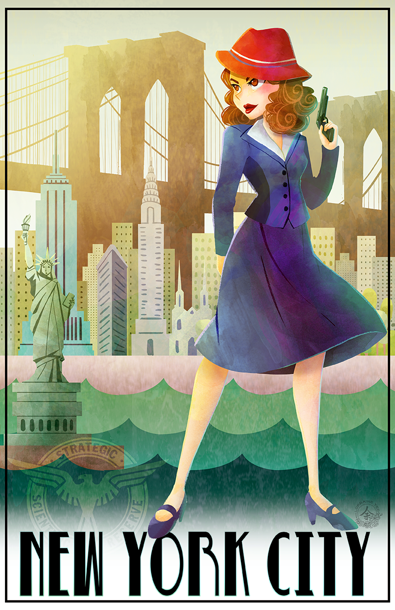 New York Travel Poster feturing Marvel Comic's Agent Carter