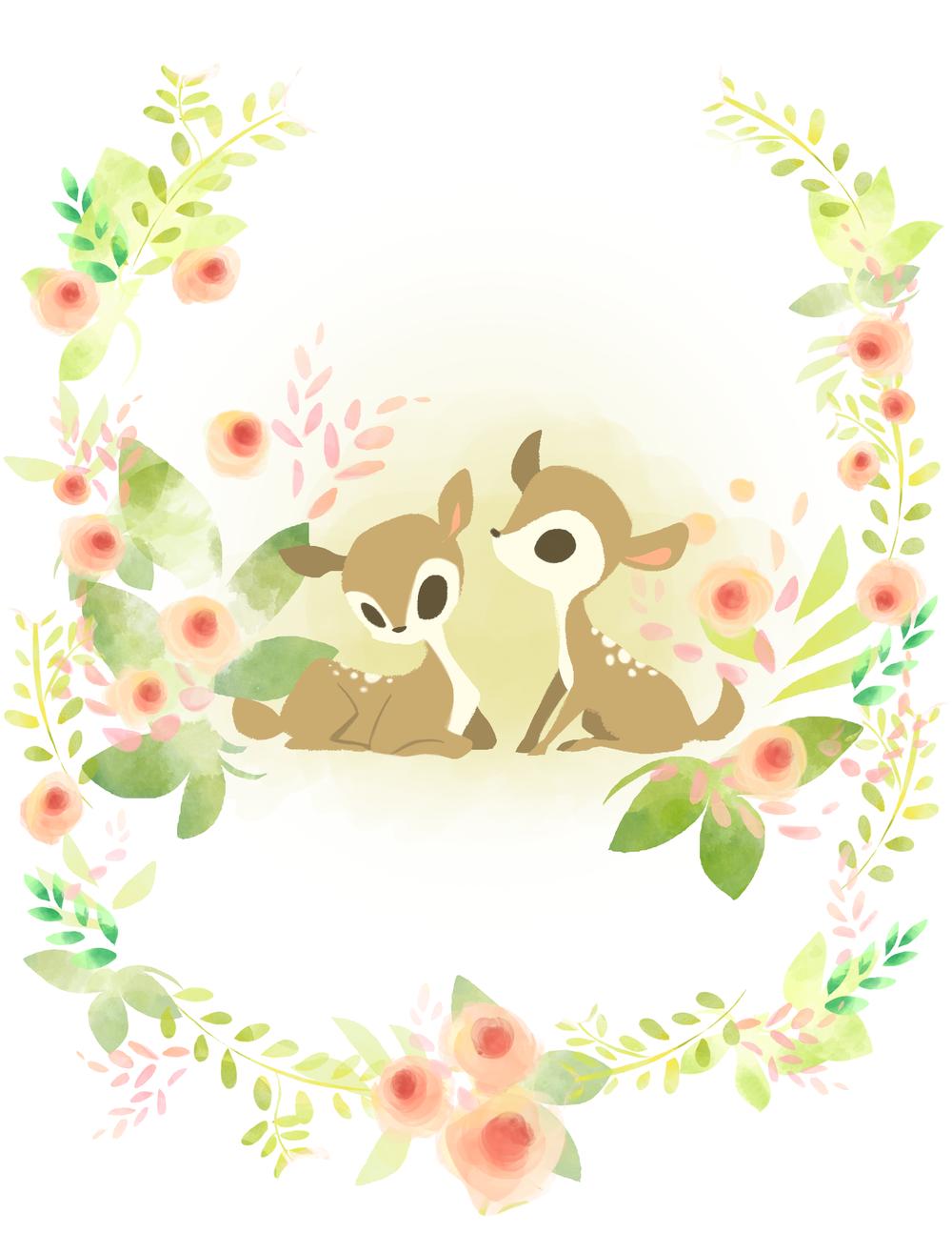 A couple of deer