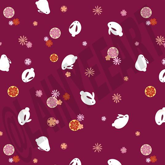 "Japanese inspired ""mochi"" bunny pattern."
