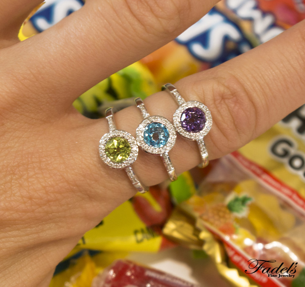 Colorful stone rings with diamonds.JPG