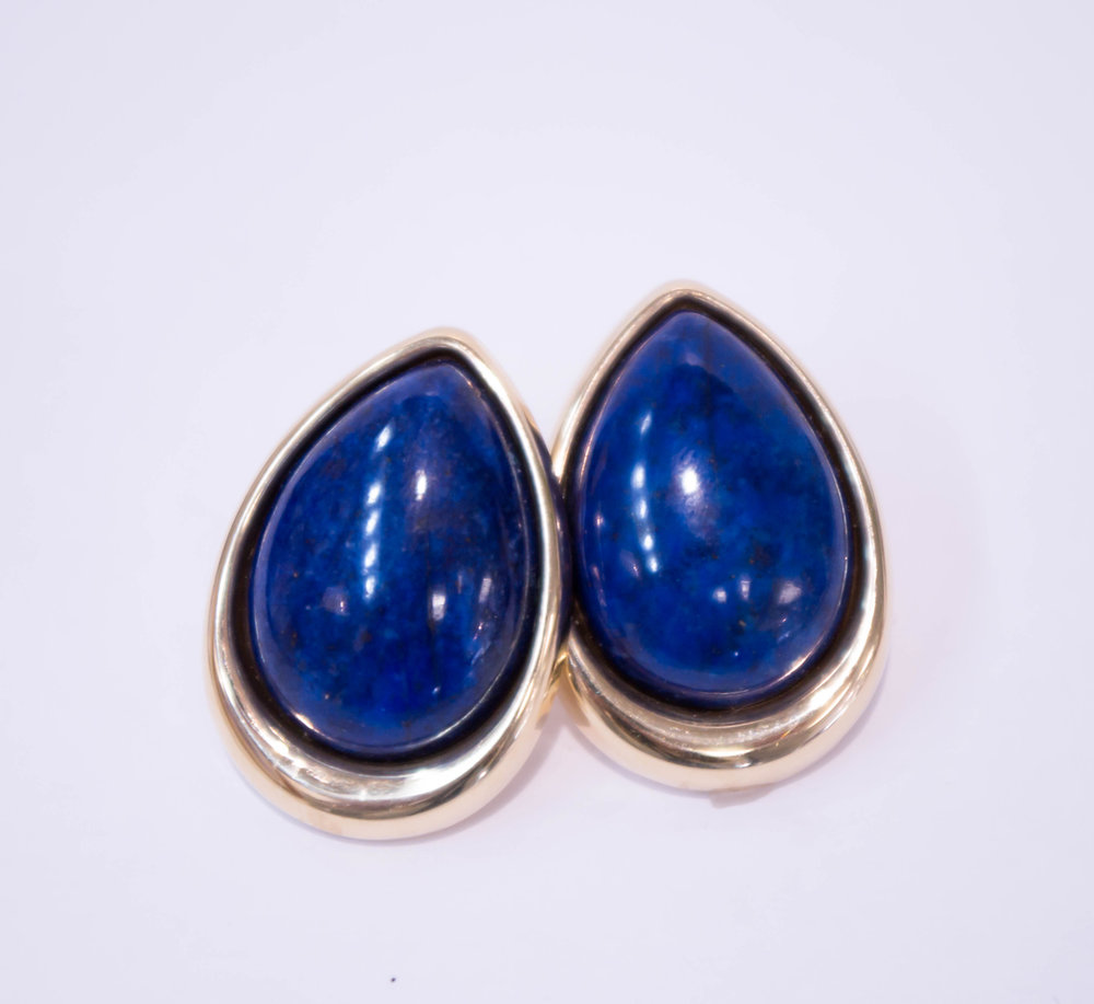 Estate 14kKY with lapis and french clip .JPG