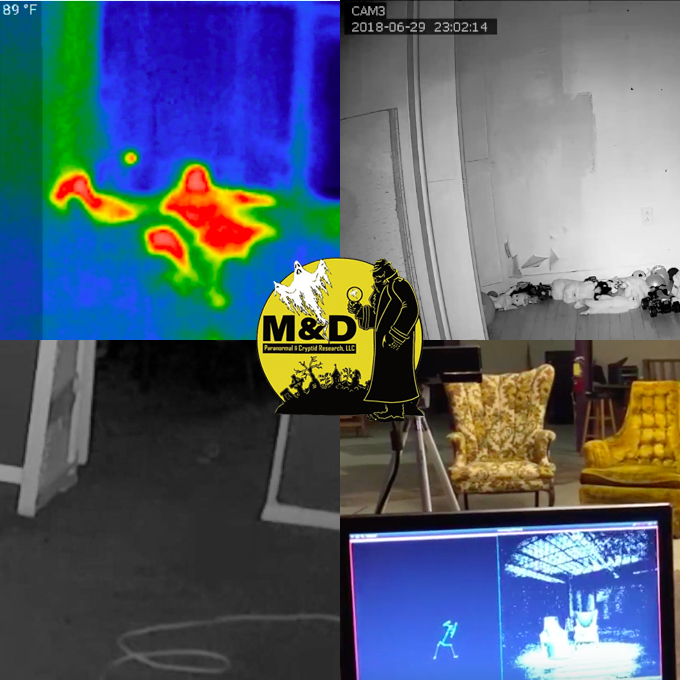 Watch the YouTube video above to see the paranormal video evidence from M&D Paranormal!