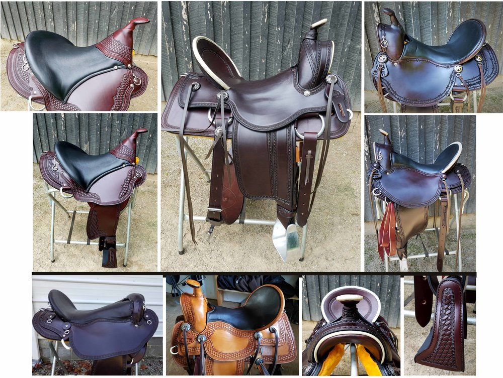 Custom Made Saddles By Eli Miller - We are proud to have these Custom Eli Miller Saddles available. Each saddle is crafted by hand, one at a time. The trees offer more shoulder room for a superior fit. Buena Vista, Old Timer, Trail, Endurance and Vaquero Saddles. We also have a selection of used English and Western Saddles on hand.