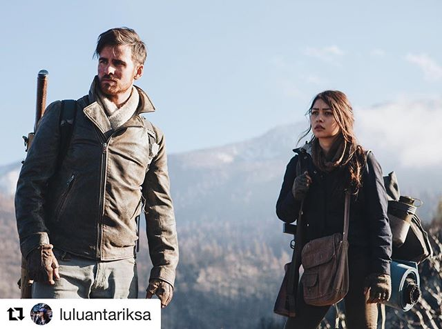 "#Repost #whatstillremains  @luluantariksa ・・・ ""A picture taken while Colin and I were messing around becomes the movie poster 👌🏽 Thankful to have worked on this film and for all of the positive reviews and feedback! Check out What Still Remains now out on VOD and trending on @Amazon ✨"""