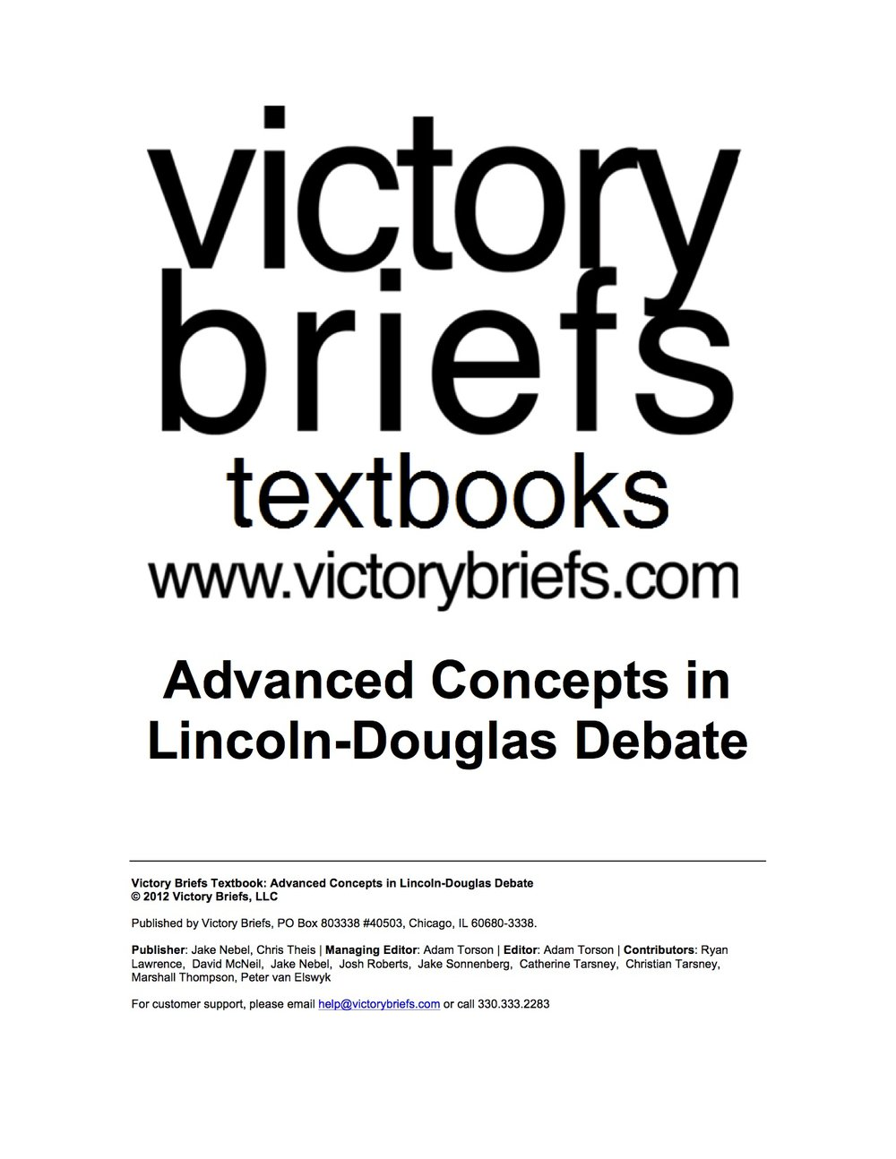 Advanced Concepts in LD -
