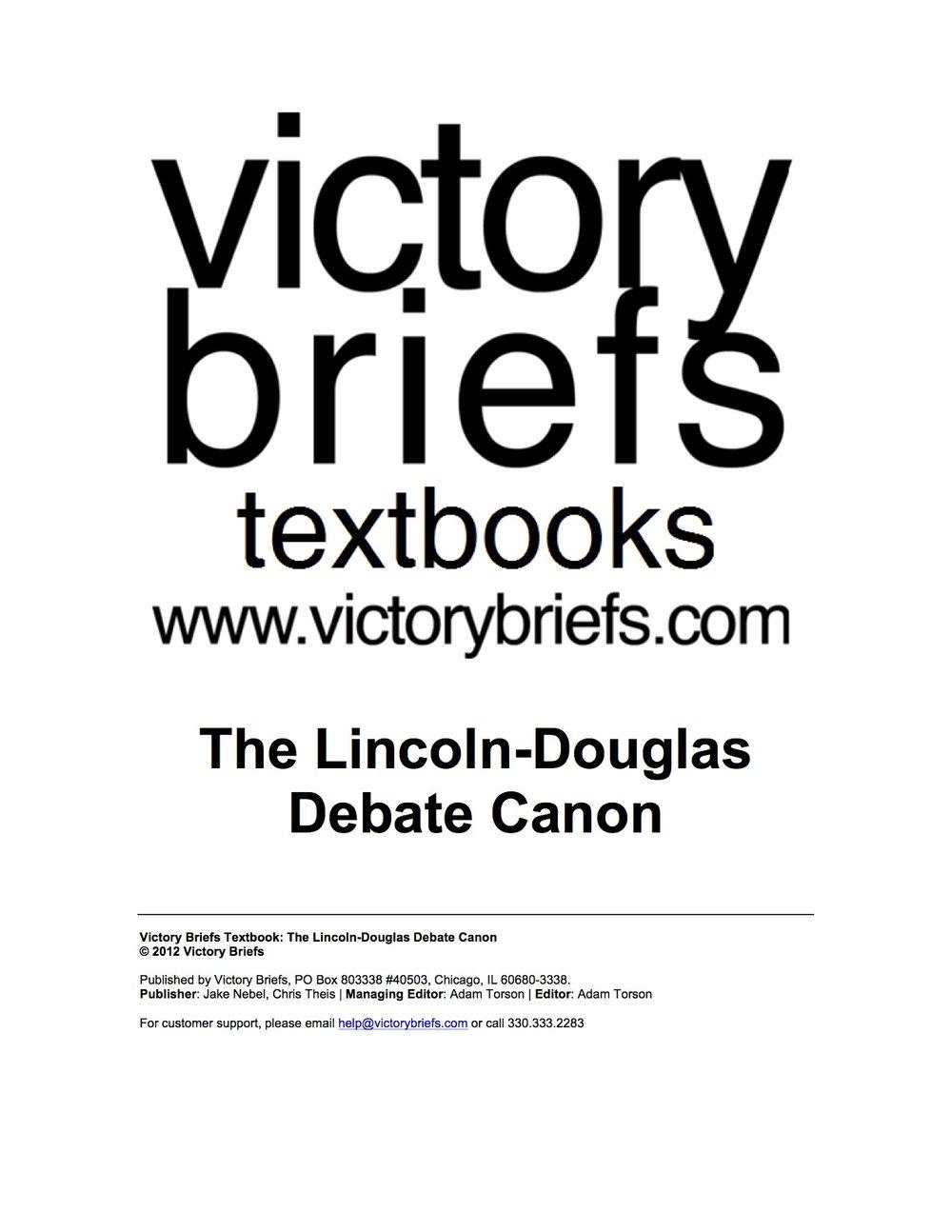 The LD Debate Canon -