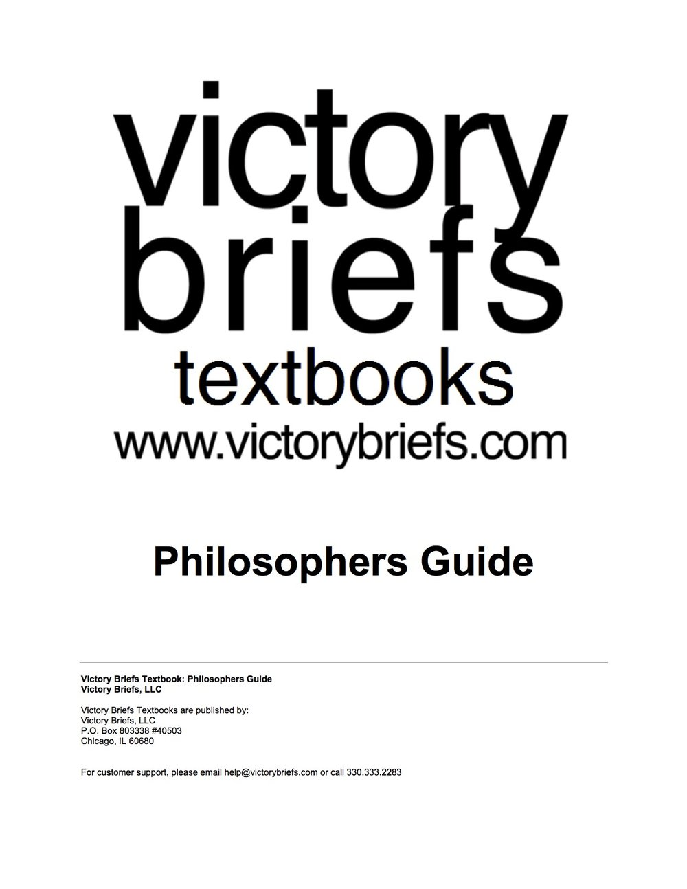 Philosophers Guide -