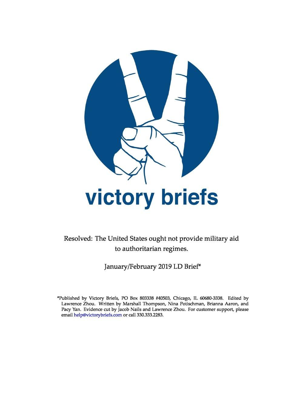 LD Jan/Feb '19 - Military Aid