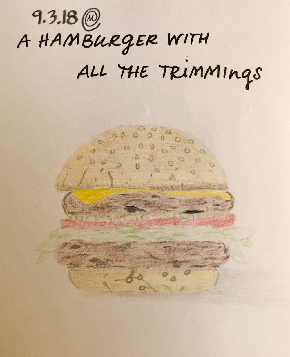 Veggie Burger - with all the trimmings
