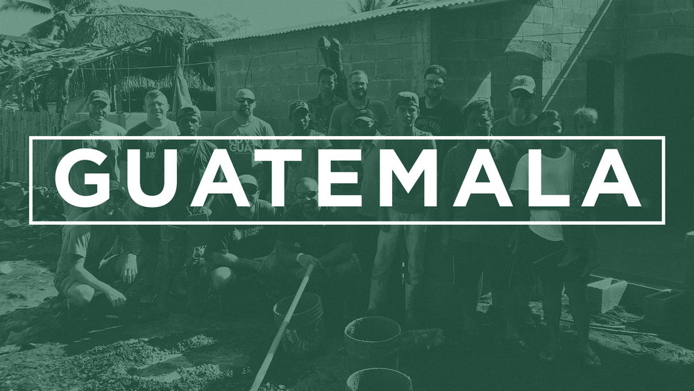 Guatemala - On September 28 - October 5 we will be partnering with Manna Worldwide to help at local feeding centers as well as help out at the brand new trade school that Stonehill was able to fund! Cost for the trip is $1,850/person.