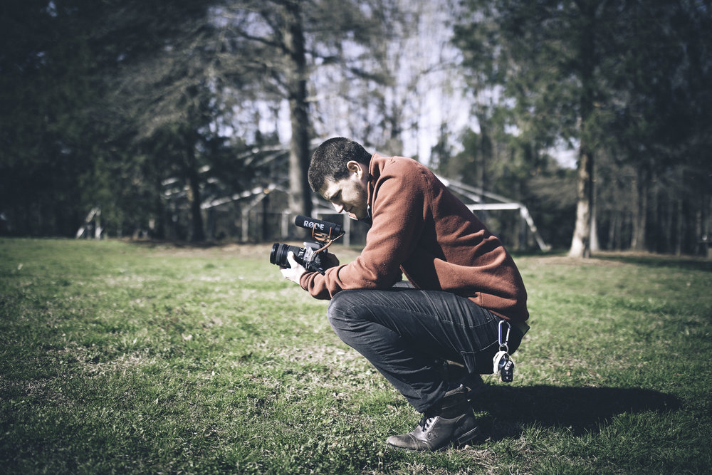 Dylan Harris - Owner/Videographer:I have always had a desire to capture nature and moments but never knew how. While living in Greensboro I was involved in a college ministry and started helping the ministry out with productions for meetings and retreats. As I helped improve the meetings we began putting videos together and I began my journey of learning to perfect the art of capturing moments and editing them in video. Since then I have been gathering experience making videos for different ministries, schools, church's, international mission trips, engagements and weddings. To me there is nothing like the rush of capturing someone's perfect moment on camera and creating a timeless video that they can watch years to come.