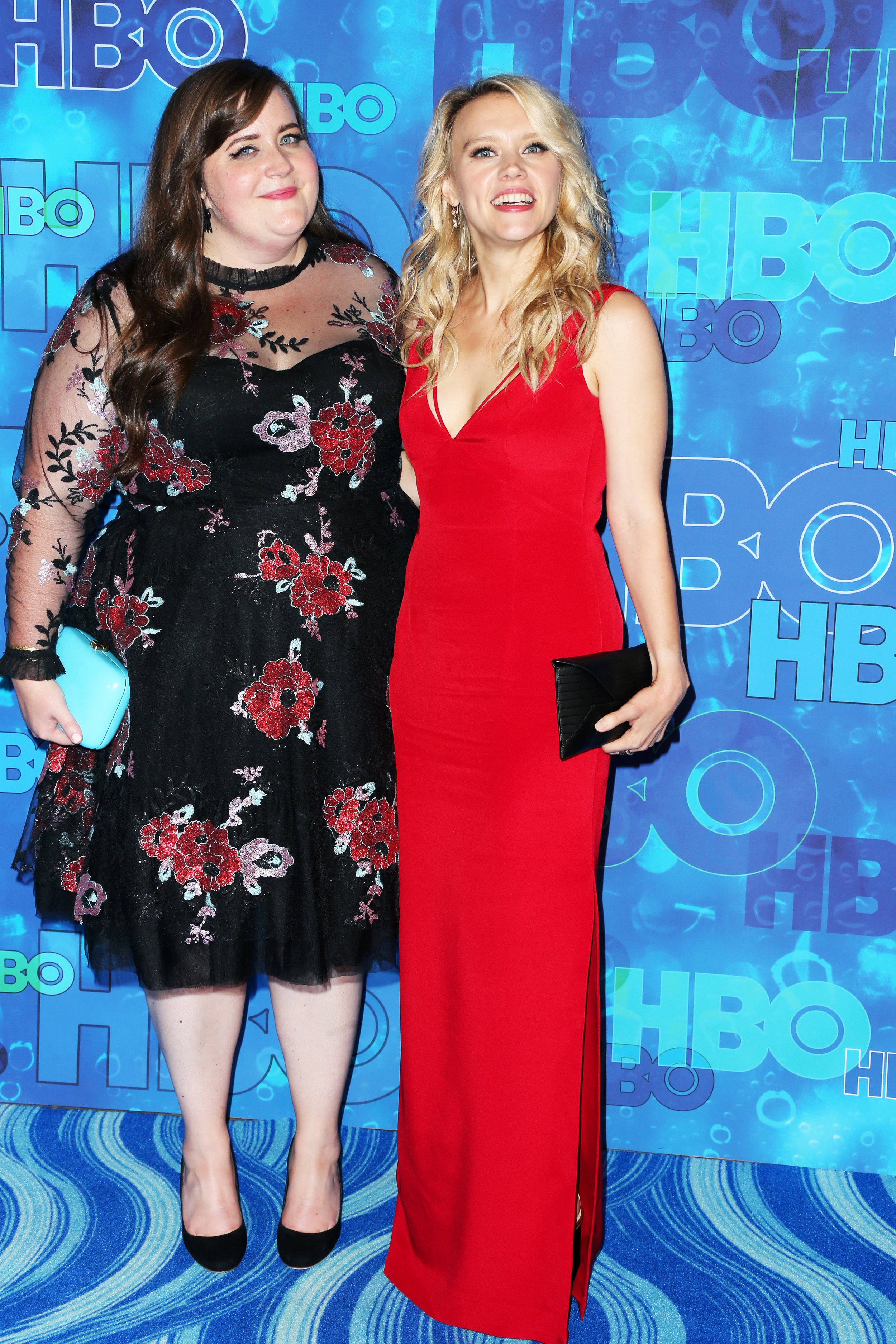 LOS ANGELES, CA - SEPTEMBER 18: Actresses Aidy Bryant (L) and Kate McKinnon attend HBO's Official 2016 Emmy After Party at The Plaza at the Pacific Design Center on September 18, 2016 in Los Angeles, California. (Photo by Frederick M. Brown/Getty Images)