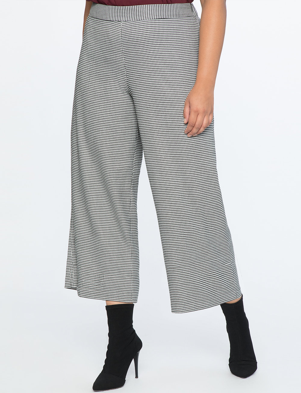 Houndstooth Crop Trouser    $39.90
