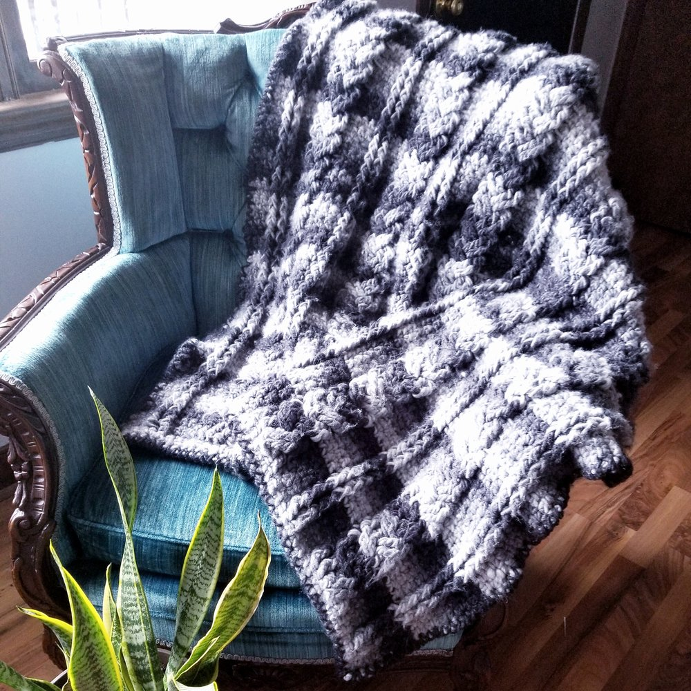 Crochet Braided Cables Blanket