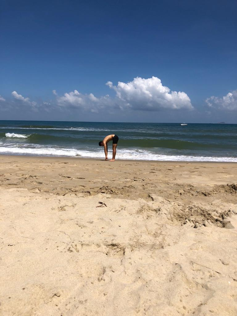 10/10 recommend yoga on the beach.