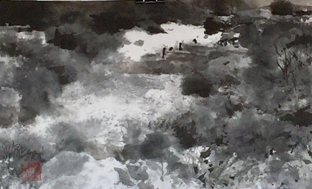 "Autumn Pond- 8x14"" - 350."