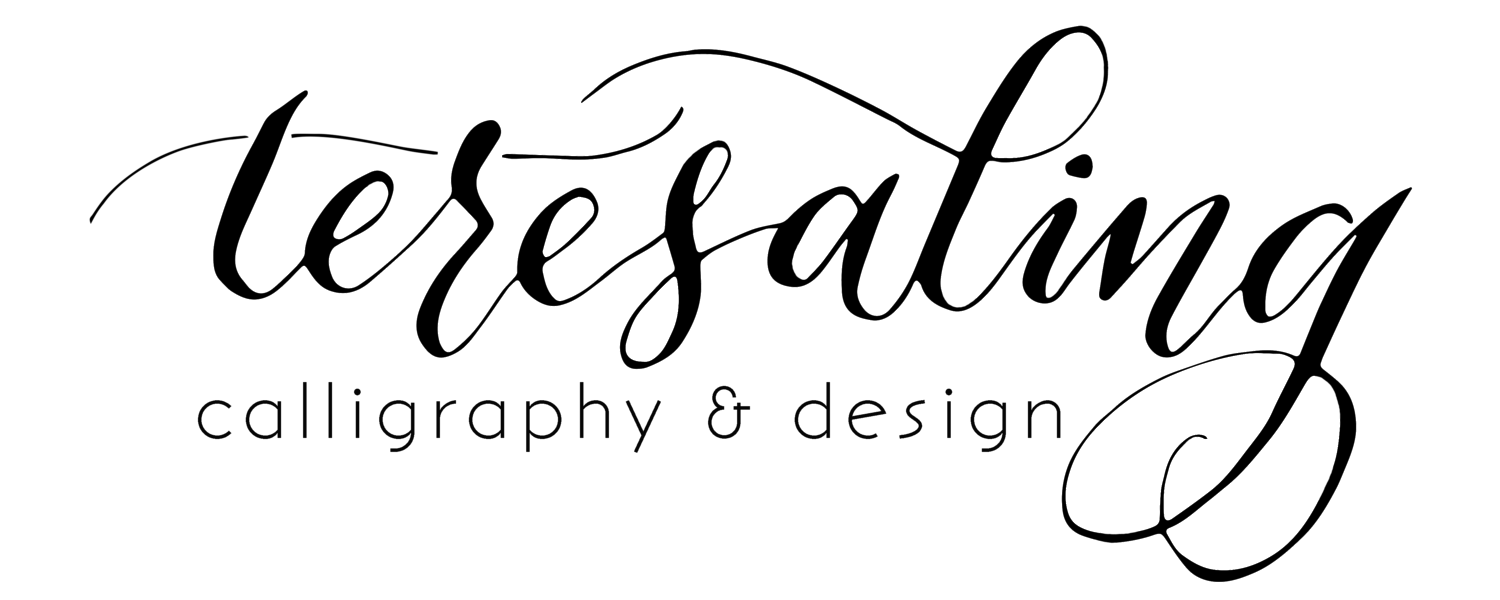 Teresaling Calligraphy | Sydney calligrapher specialising in calligraphy for weddings and events.