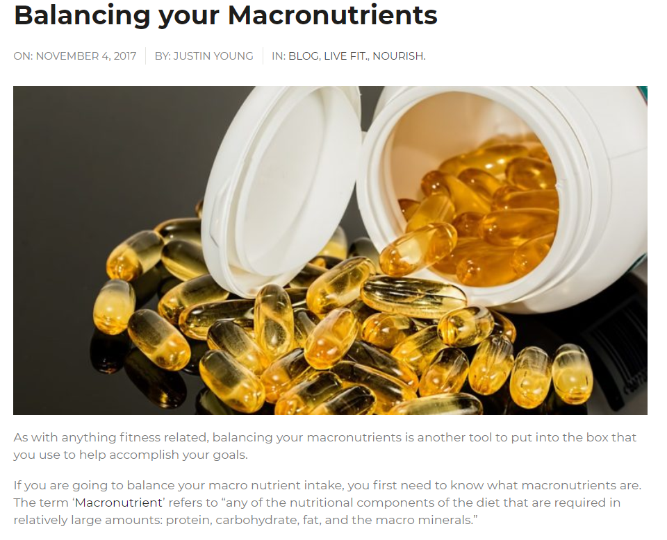 Balancing Your Macronutrients