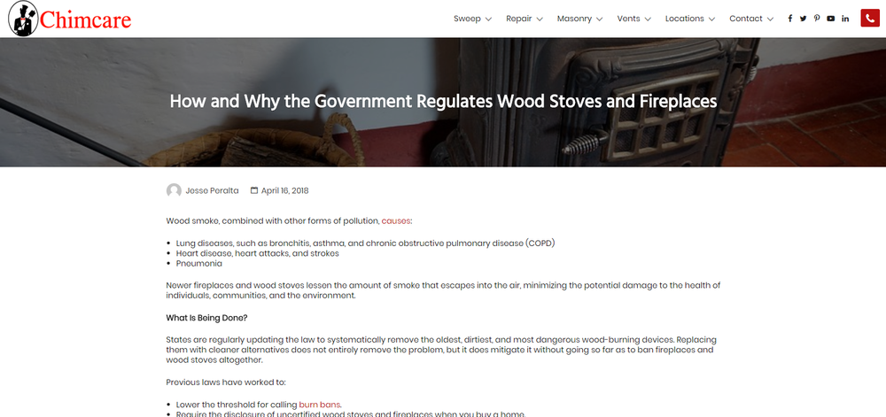 How and Why the Government Regulates Wood Stoves and Fireplaces
