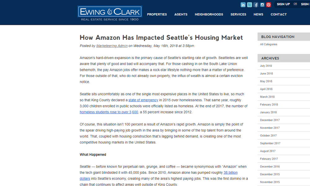 How Amazon Has Impacted Seattle's Housing Market