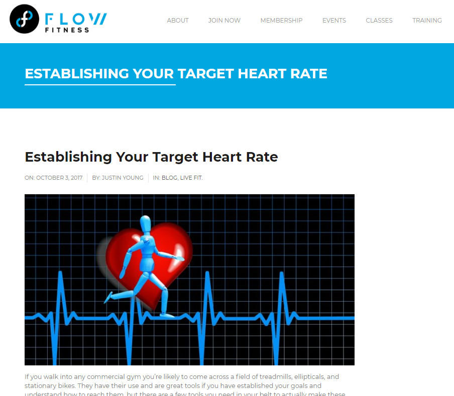 Establishing Your Target Heart Rate