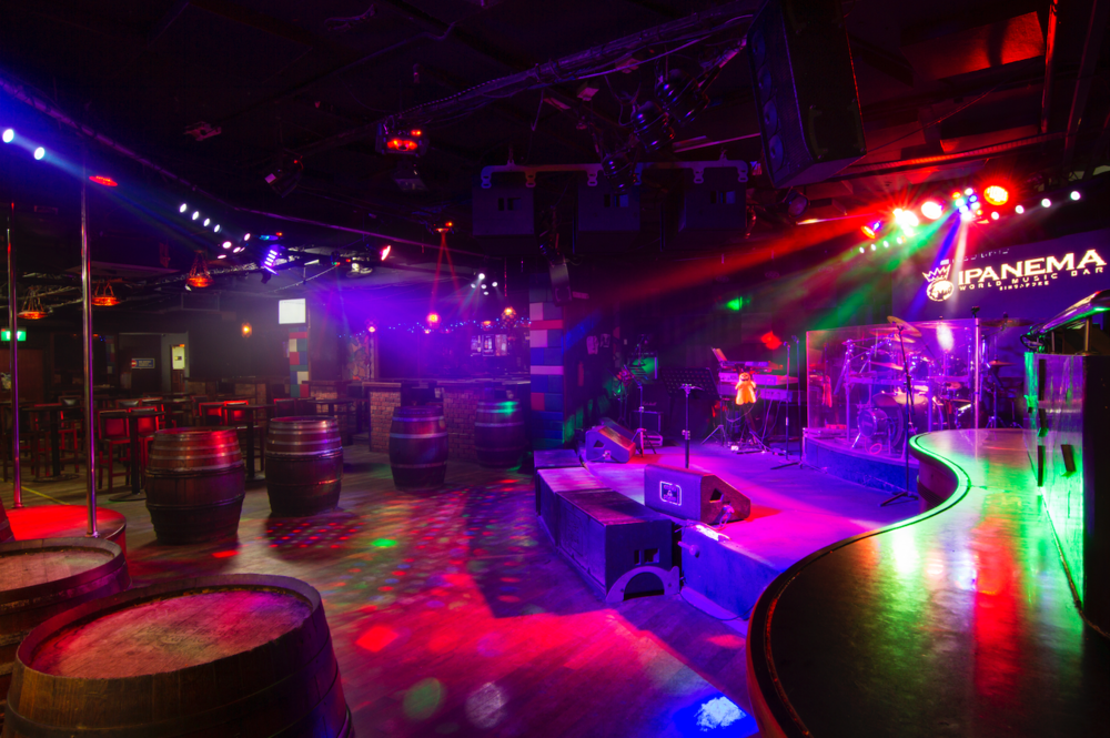 Ipanema World Music Bar   This sprawling 7,000 square feet club boast the best in live entertainment and as excellent world music rendition by our resident DJ. Playing to a full capacity crowd nightly, this club stands alone in delivering unsurpassed leisure for your ultimate pleasure.