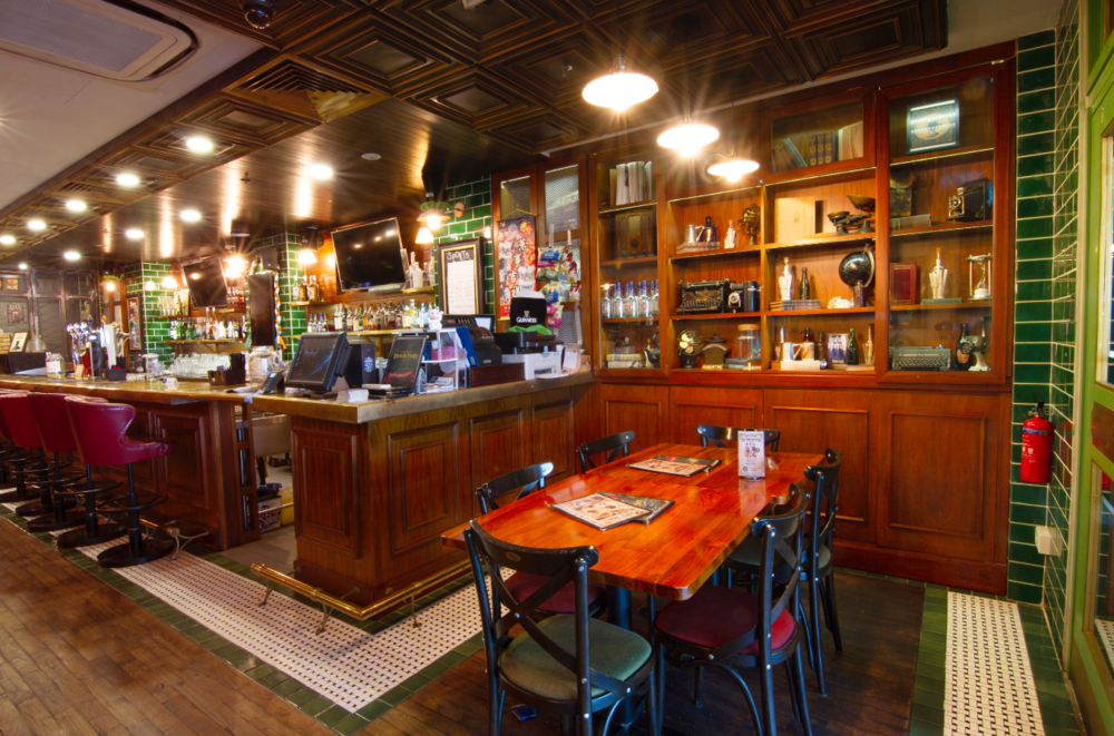 The Drunken Poet   The best Irish Pub in Singapore is located conveniently in the Orchard road district, in the Orchard Towers building. Sports, bar grub & cold pints await you.