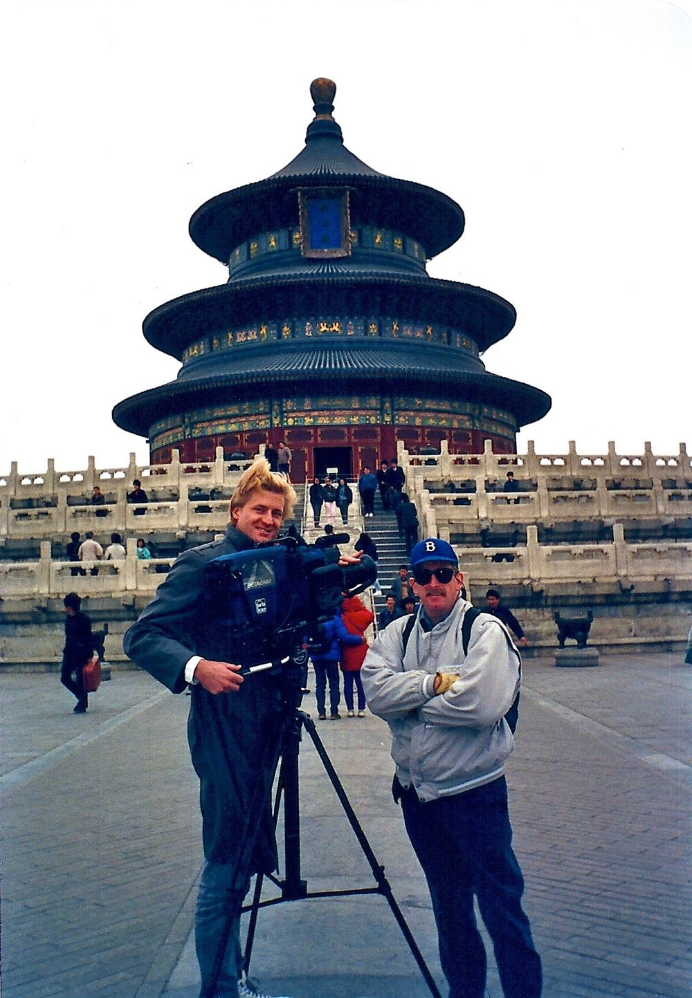 Shooting documentaries in Beijing, China with uber-producer Craig Forrest in front of a Chinese missile silo.