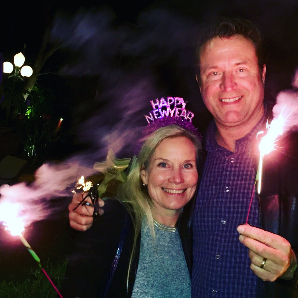 Beautiful Bride Sonya tries to incinerate husband Jim on New Year's Day 2018.