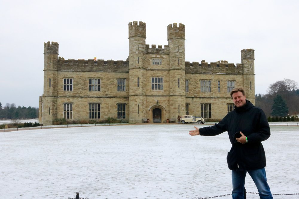 Not Jim's house, but Leeds Castle in the UK with late spring spreading of polystyrene flakes in 2018.